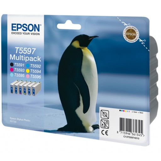 Epson T5597 Ink Cartridge - Multipac 6 Colour Genuine