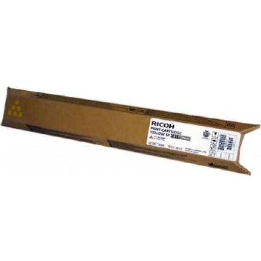 Ricoh 821218, Toner Cartridge HC Yellow, SP C811- Genuine