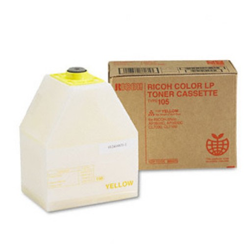 Ricoh 888035 Toner Cartridge Yellow, Type 105, AP3800C, CL7000, CL7100 -  Genuine