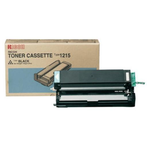 Ricoh 888078 Toner Cartridge Black, Type 1215, FT1008, FT1208  - Genuine
