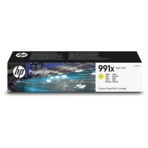 HP M0J98AE, Ink Cartridge HC Yellow, 991X, Pro 750, 772, 777- Original