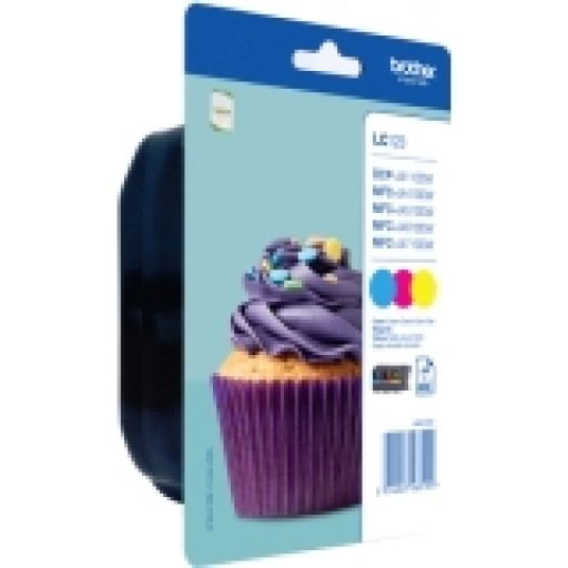 Brother LC123 Tri-colour Ink Cartridge - Cyan, Magenta, Yellow