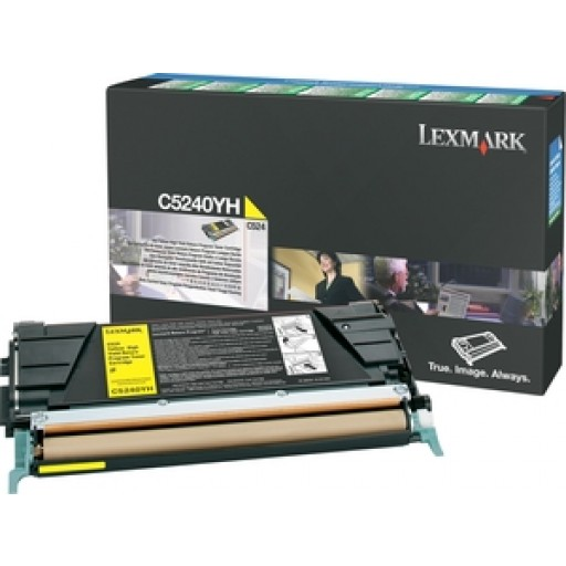 Lexmark C5240YH, Toner Cartridge HC Yellow, C524, C532, C534- Original