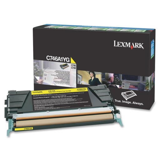 Lexmark C746A1YG, 746/748 Return Program Toner Cartridge - Yellow