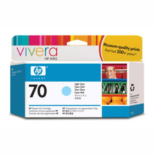 HP C9390A No.70 Ink Cartridge - Light Cyan Genuine