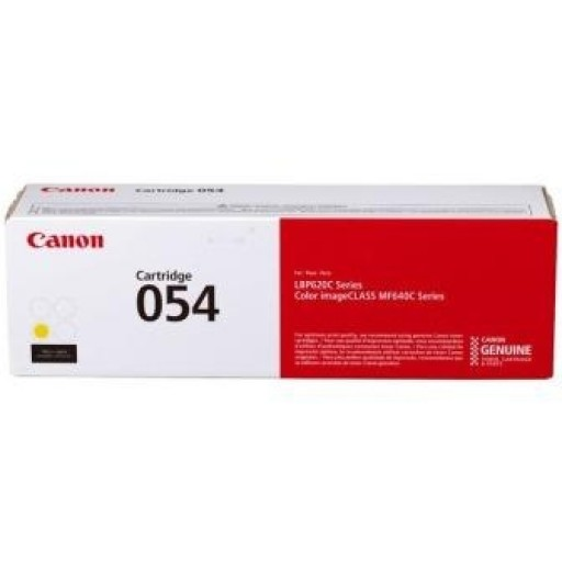 Canon 3021C002, 054, Toner Cartridge Yellow, i-SENSYS LBP621, LBP623, MF641, MF643- Original