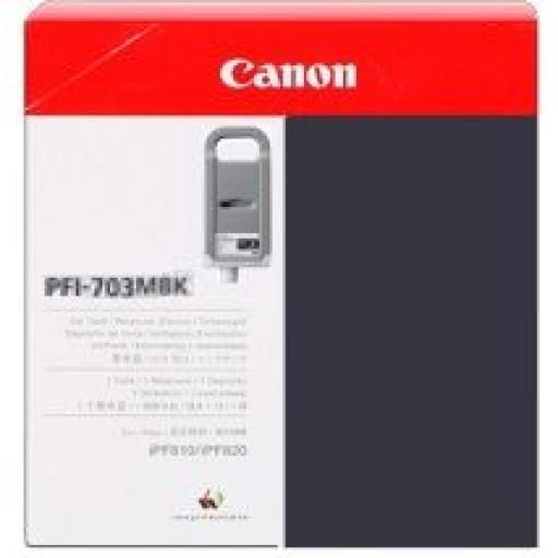 Canon iPF810, iPF815, iPF820, iPF825 PFI703MBK Ink Cartridge - HC Black Matte Genuine (2962B001AA)