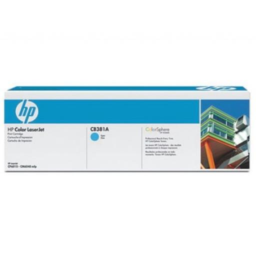 HP CB381A, Toner Cartridge Cyan, CP6015, CM6030, CM6040- Original