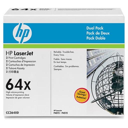 HP CC364XD Toner Cartridge- HC Black Multipack, 64X P4015, P4515 Genuine