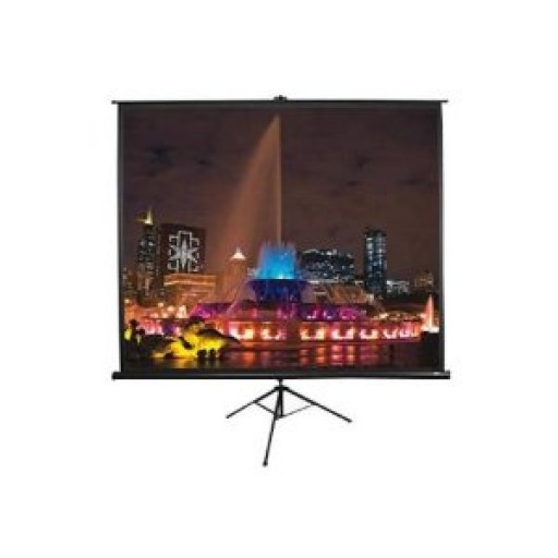 Elite T100UWV1-BLACK Tripod Pull up Projection Screen
