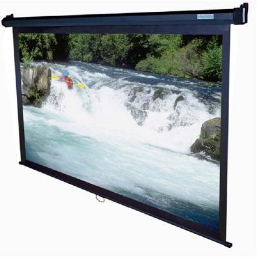 Elite M100UWH-BLACK Manual Pull Down Projection Screen