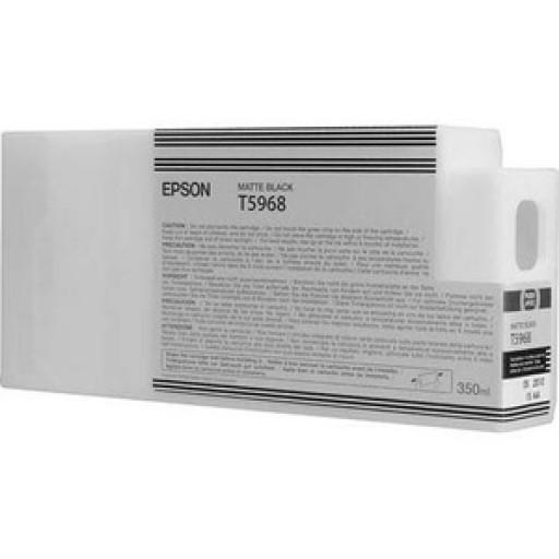 Epson C13T596800, T5968 Ink Cartridge, Stylus Pro 7700, 7890, 7900, 9700, 9890, 9900 - Matte Black Genuine