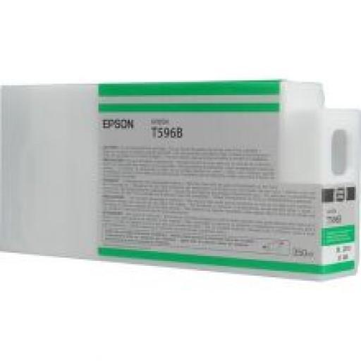 Epson C13T596B00, T596B Ink Cartridge, Stylus Pro 7700, 7890, 7900, 9700, 9890, 9900-Green Genuine