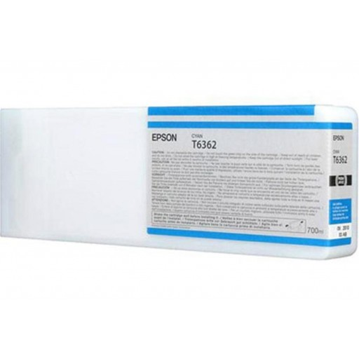 Epson C13T636200, T6362 Ink Cartridge HC Cyan 700ml, Stylus Pro 7700, 7890, 7900, 9700-  Original