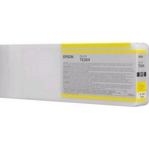 Epson C13T636400, T6364 Ink Cartridge, Stylus Pro 7700, 7890, 7900, 9700, 9890, 9900- HC Yellow Genuine