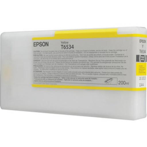 Epson C13T653400, T6534 Ink Cartridge, Stylus Pro 4900 - Yellow Genuine