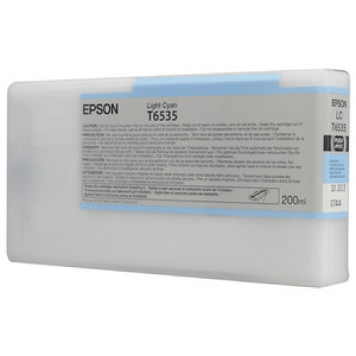 Epson C13T653500, T6535 Ink Cartridge, Stylus Pro 4900 - Light Cyan Genuine