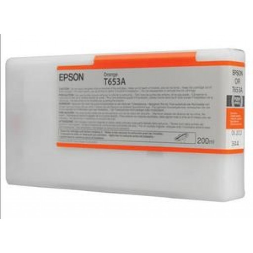 Epson C13T653A00, T653A Ink Cartridge, Stylus Pro 4900 - Orange Genuine