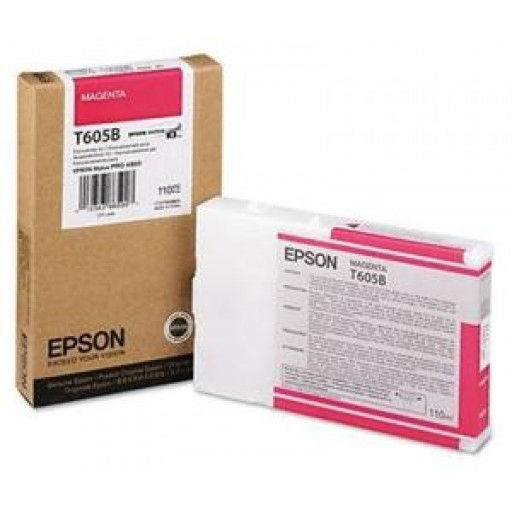 Epson T605B, C13T605B00 Ink Cartridge, 4800, 4880 - Magenta Genuine