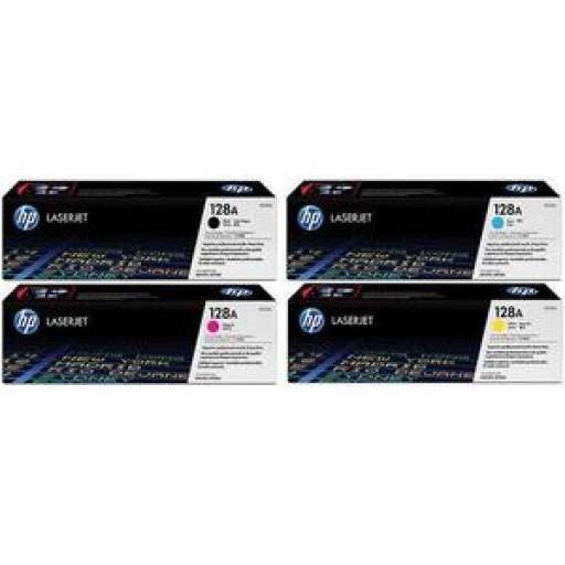 HP 128A CM1415, CP1525 Toner Cartridge - Value Pack Genuine