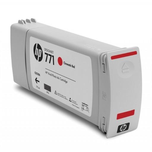 HP CE038A, 771 Ink Cartridge, Designjet Z6200 - Chromatic Red Genuine