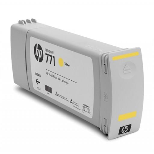 HP CE040A, 771 Ink Cartridge, Designjet Z6200 - Yellow Genuine