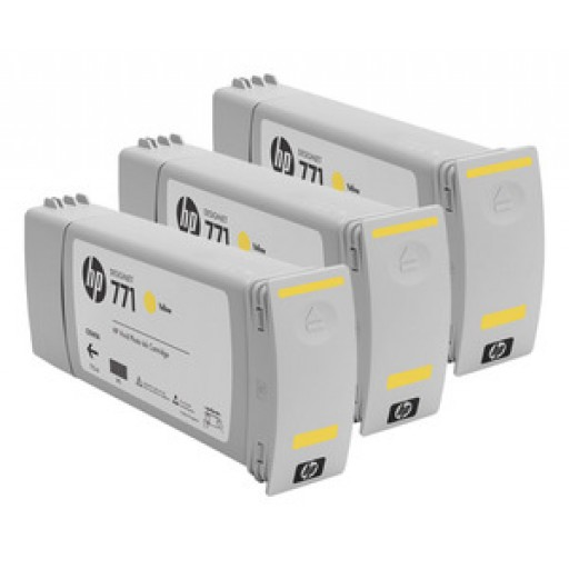 HP CR253A, 771 Ink Cartridge, Designjet Z6200 - Yellow Multipack Genuine