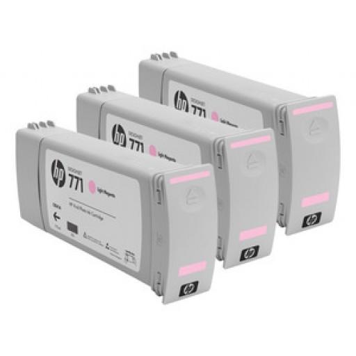 HP CR254A, 771 Ink Cartridge, Designjet Z6200 - Light Magenta Multipack Genuine