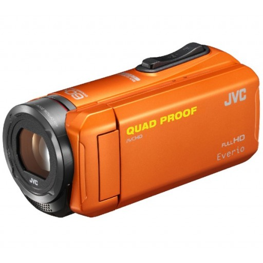 JVC GZ-R315DEU, HD Camcorder- Orange with Accessory Pack (16GB SDHC + bag)