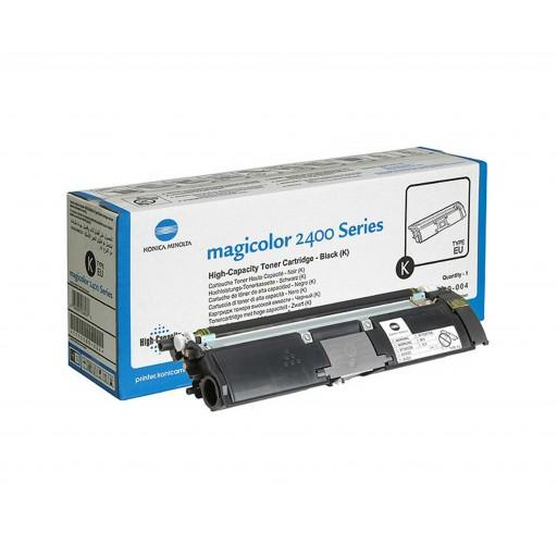 Konica Minolta 1710589-004 Toner Cartridge HC Black, Magicolor 2400, 2430, 2450, 2500, 2530, 2550 -  Genuine
