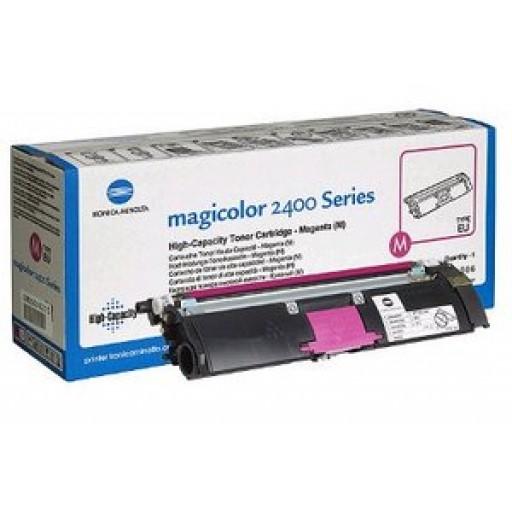 Konica Minolta 1710589-006 Toner Cartridge HC Magenta, Magicolor 2400, 2500 - Genuine