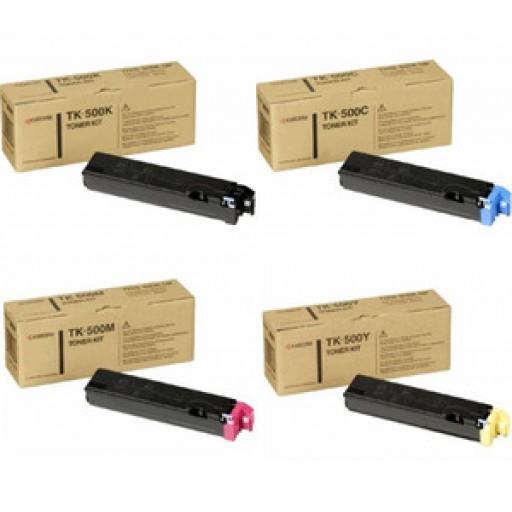 Kyocera TK-500 Toner Cartridge ValuePack, FS-C5016N - 4 Colour Genuine