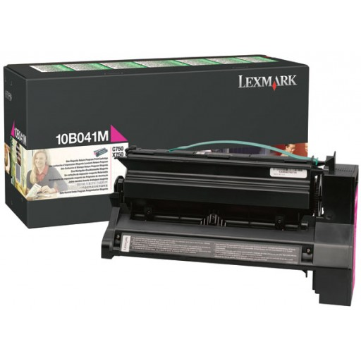 Lexmark 10B041M, Return Program Toner Cartridge Magenta, C750- Original