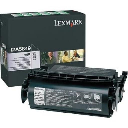 Lexmark 12A5849, Return Program Toner Cartridge HC Black, T610, T612, T614, T616- Original
