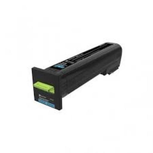 Lexmark 82K2XC0, Return Program Toner Cartridge Extra HC Cyan, CX825, CX860- Original