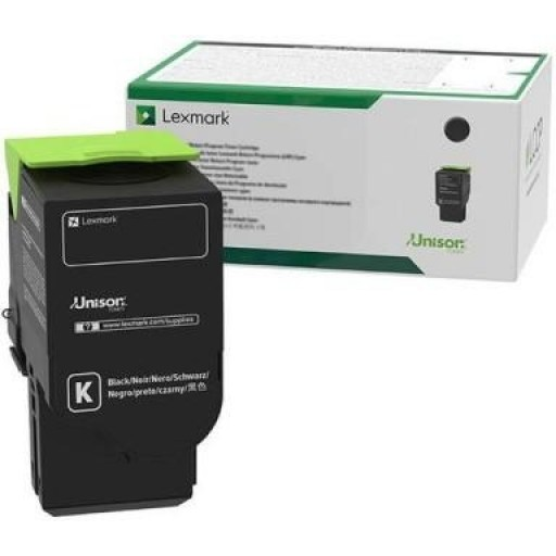 Lexmark C2320K0, Return Program Toner Cartridge Black, C2325, C2425, C2535, MC2640- Original