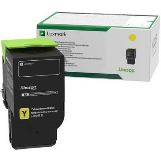 Lexmark C2320Y0, Return Program Toner Cartridge Yellow, C2325, C2425, C2535, MC2640- Original