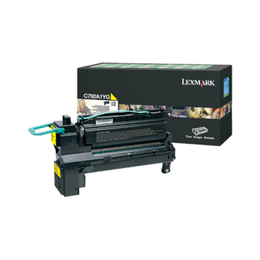 Lexmark C792A1YG, C792/X792 Toner Cartridge 6k - Yellow