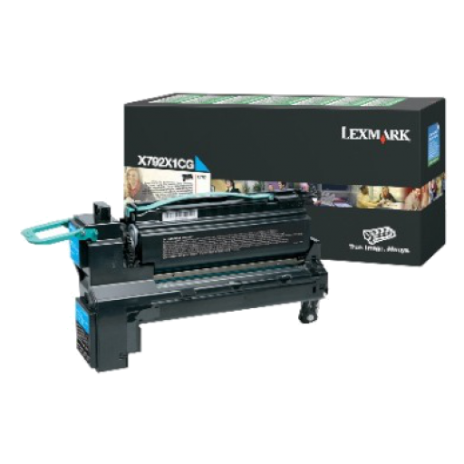 Lexmark X792X1CG, X792 Toner Cartridge 20k - Cyan
