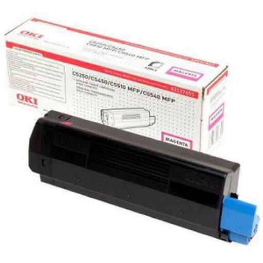 Oki 42127455, Toner Cartridge HC Magenta, C5250, C5450, C5510, C5540- Genuine