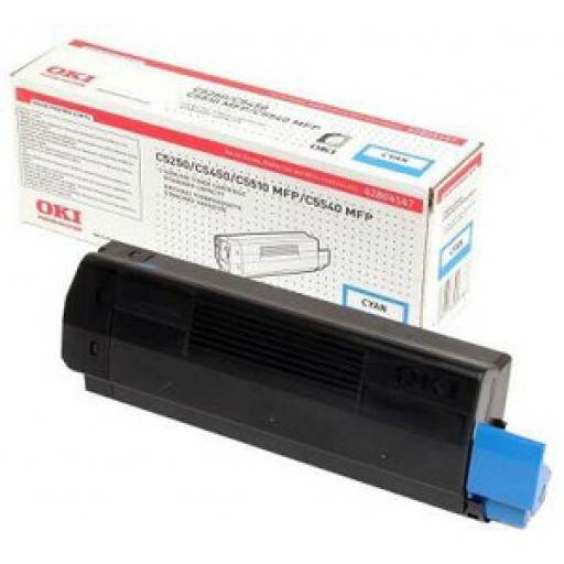 Oki 42804547, Toner Cartridge Cyan, C5250, C5450, C5510, C5540- Genuine