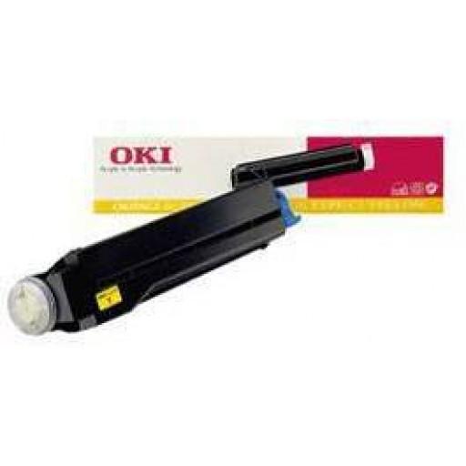 OKI 41012306 Toner Cartridge, Page 8C - Yellow Genuine