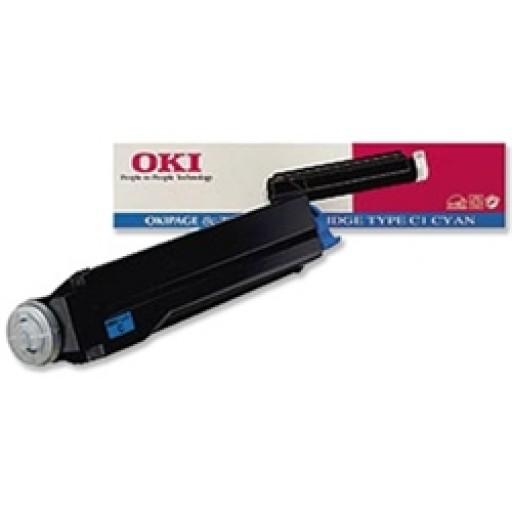 OKI 41012308 Toner Cartridge, Page 8C - Cyan Genuine