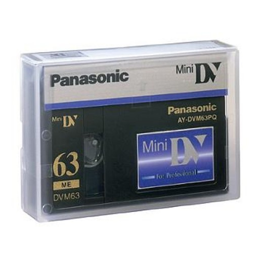 Panasonic AYDVM63PQ, Mini DV Tape for Sony, Canon, JVC Camcorder