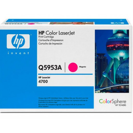 HP Q5953A, Toner Cartridge Magenta, Laserjet 4700- Original