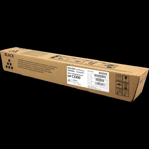 Ricoh 842043, Toner Cartridge Black, MP C2800, C3300- Original