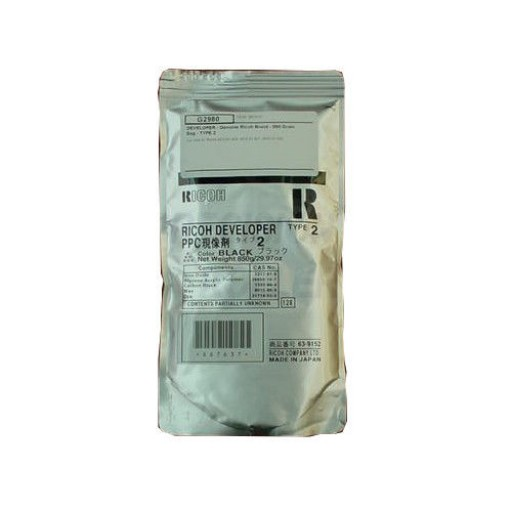 Ricoh A1339640 Developer Black, Type 2, 400, 401, 500 - Genuine