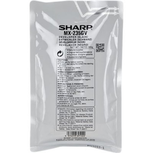Sharp MX235GV, Developer Black, AR 5618, 5620, MX M182, M202- Original
