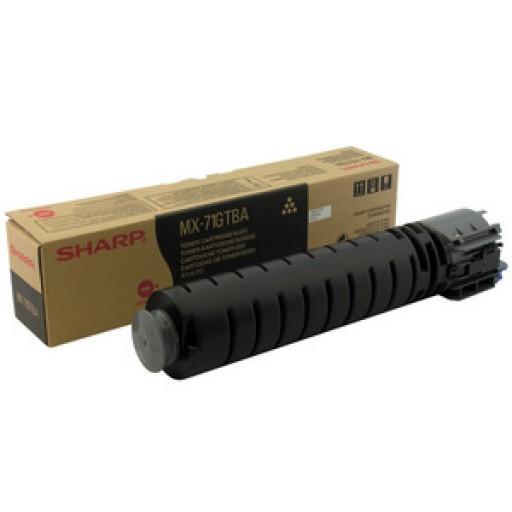 Sharp MX71GTBA Toner Cartridge, MX 6201, 7001 - Black Genuine
