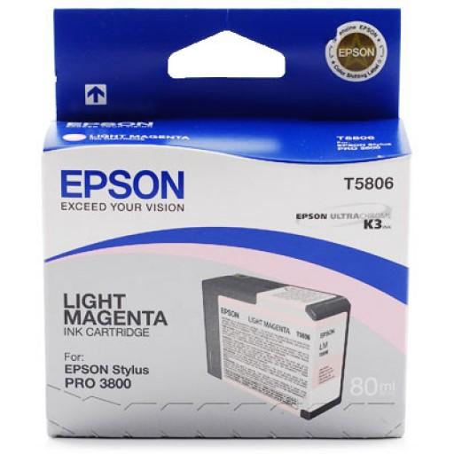 Epson T580B Stylus Pro 3800, 3880 Ink Cartridge - Light Magenta C13T580B00 - Genuine